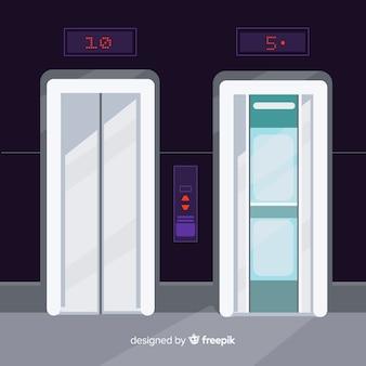 Aufzüge gesetzt