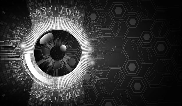 Auge cyber circuit zukunftstechnologie konzept hintergrund concept