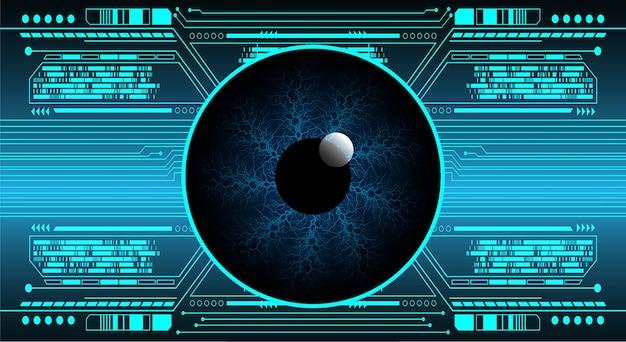 Auge cyber circuit zukunftstechnologie konzept hintergrund