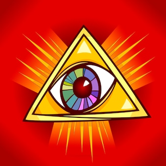 Auge der vorsehungsillustration