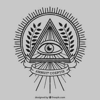 Auge in einem dreieck