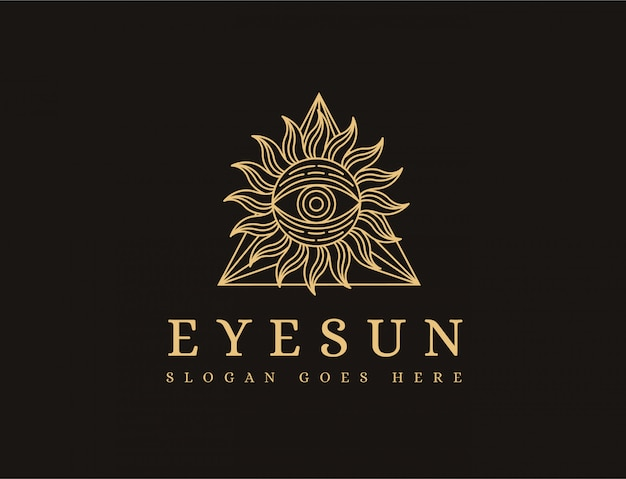 Auge sonne logo vorlage
