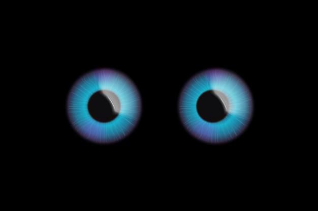 Augen auf dunkel