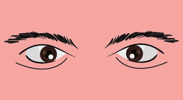Augen eines mannes entwerfen