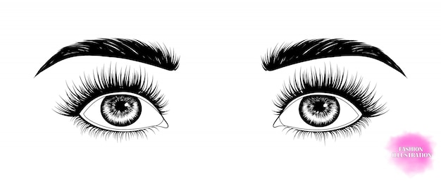 Augen schauen auf