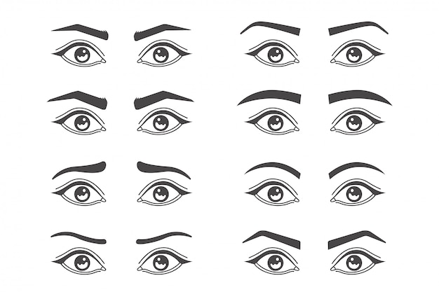 Augenbrauen formen isoliert