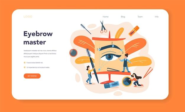 Augenbrauenmaster und designer-webbanner oder landingpage
