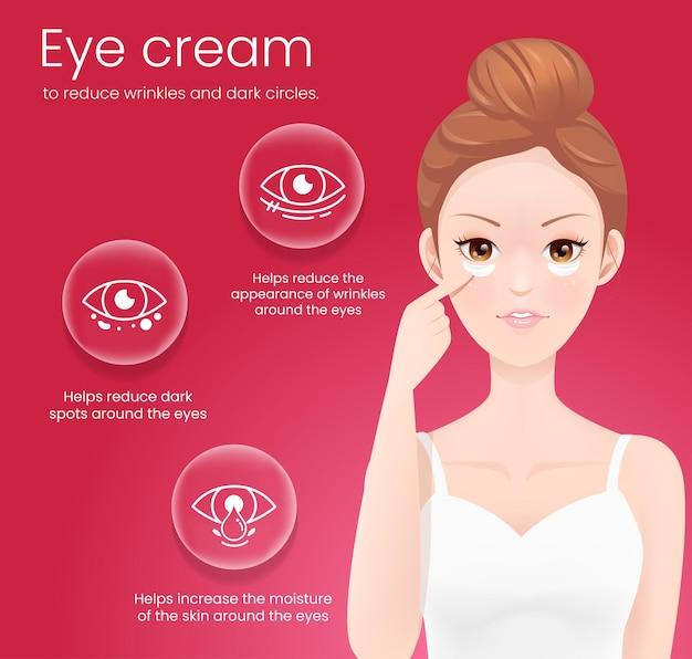 Augencreme zur reduzierung von fältchen und augenringen