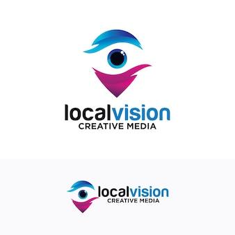 Augenpunkt-logo-design für vision-konzept