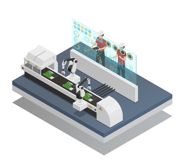 Augmented reality isometrische zusammensetzung