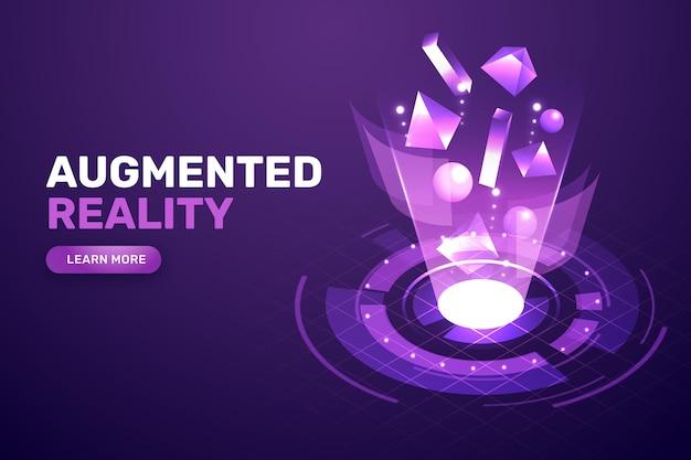 Augmented reality konzept hintergrund