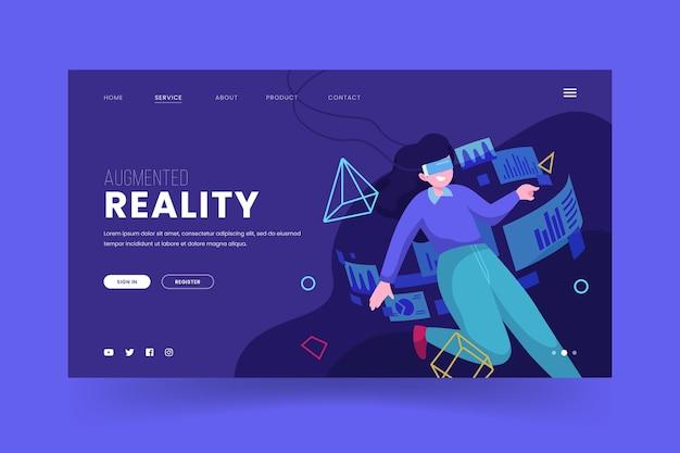 Augmented reality konzept - landing page