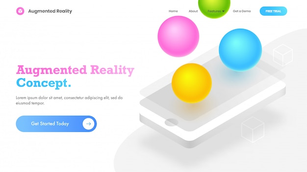 Augmented reality-konzept.