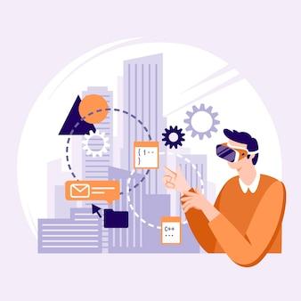 Augmented reality-konzept