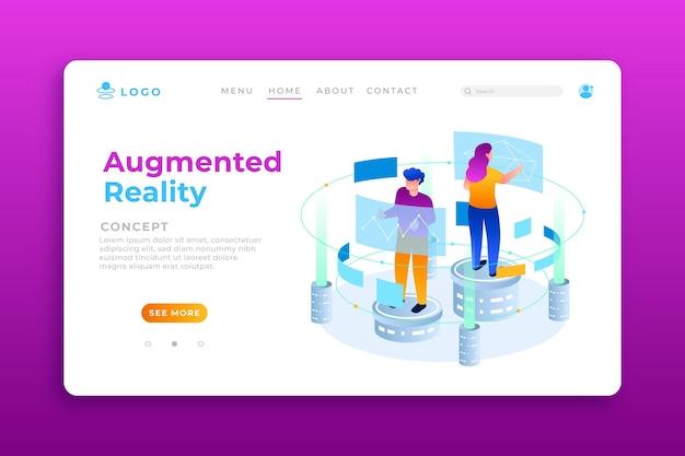 Augmented reality landing page mit abbildungen