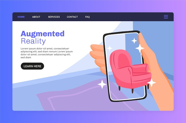 Augmented reality landing page vorlage