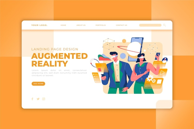 Augmented reality landing page
