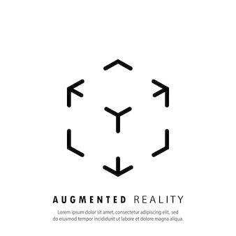 Augmented-reality-symbol. konzept ar-symbol. vektor-eps 10. getrennt auf weißem hintergrund.