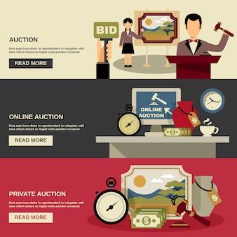 Auktions-banner-set