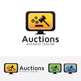 Auktions-logo-vorlage