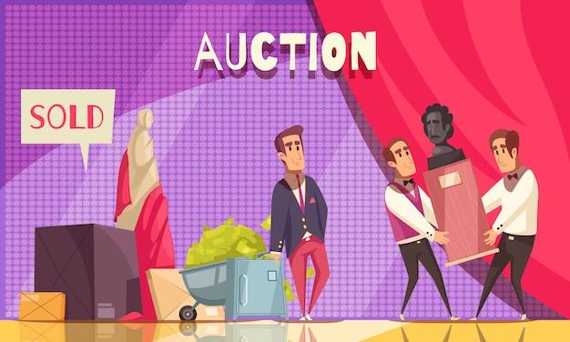 Auktionsshow-horizontaler hintergrund