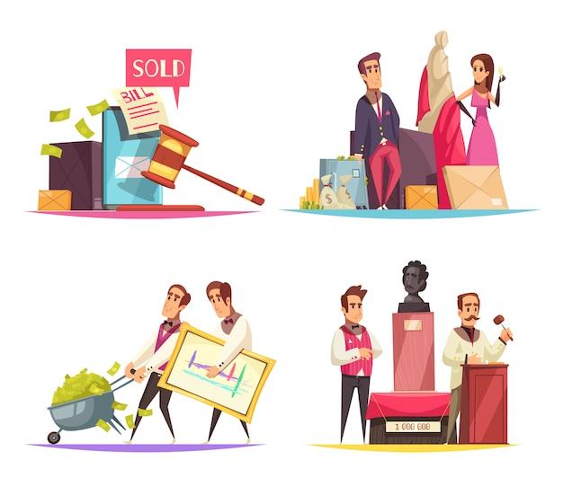 Auktionssituationen design-konzept