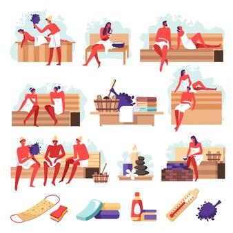 Auna s, menschen bathingpa salon werkzeuge