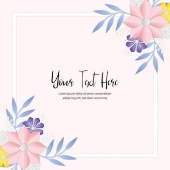 Auntumn floral invitation card kostenloser vektor