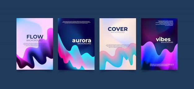 Aurora abstrakte wellenflüssigkeit.