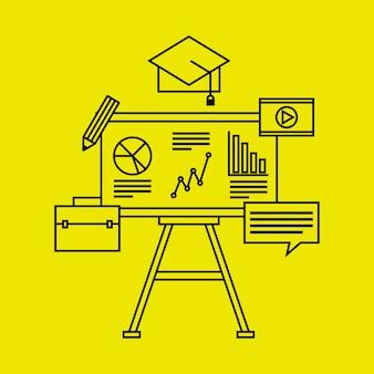 Ausbildungskursdesign, grafik der vektorillustration eps10