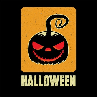 Ausdrucksstarker isolierter halloween-kürbis