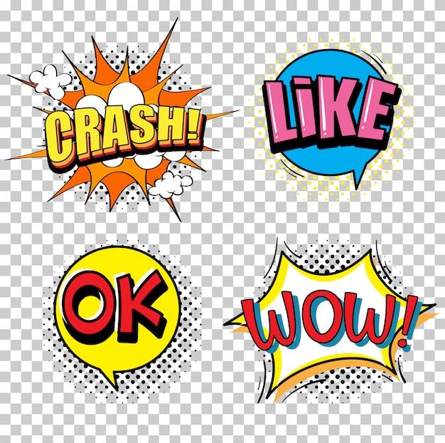 Ausdruckswörter für vier wörter