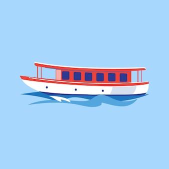 Ausflugsschiff auf dem wasser.