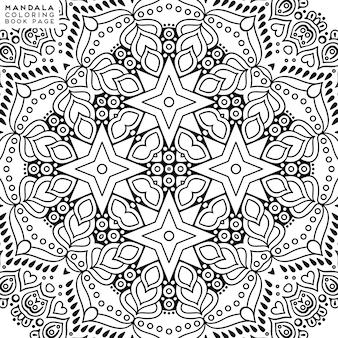 Ausführliche dekorative mandalaillustration
