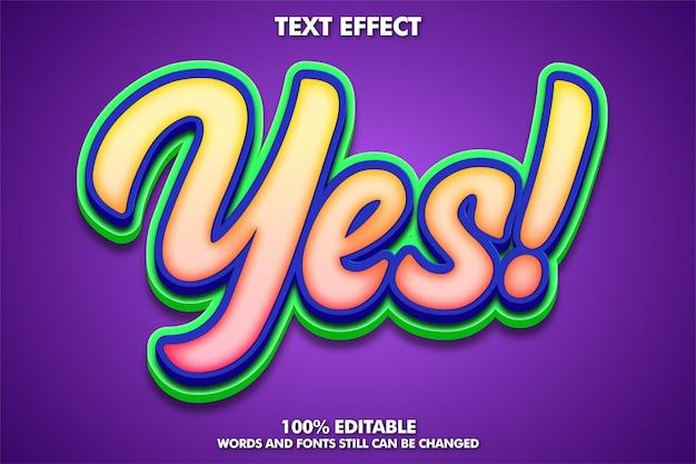 Ausgefallener moderner bearbeitbarer texteffekt
