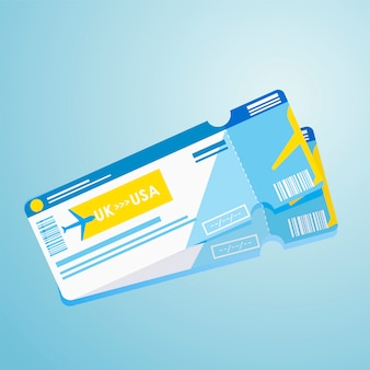 Ausländischer pass zwei flugtickets