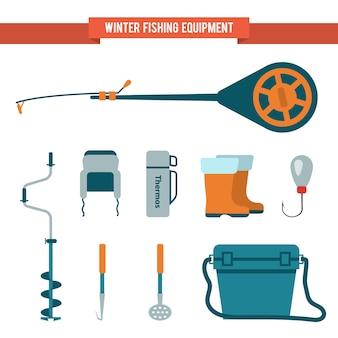 Ausrüstung für das winterfischen