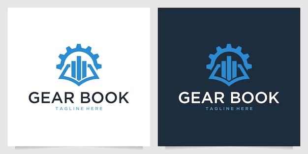 Ausrüstung mit logo-design für buchbildung