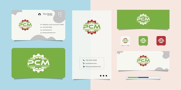 Ausrüstungs- und visitenkartenkonzept-logo-design
