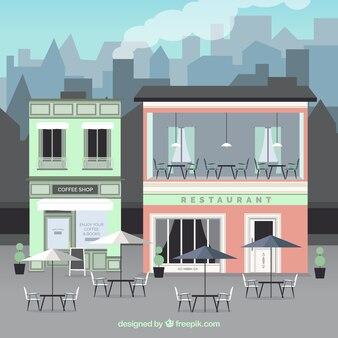 Aussen Gebäude Cafe