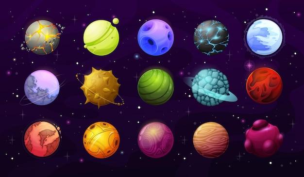 Außerirdische planeten und sterne