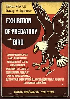 Ausstellung des raubvogels