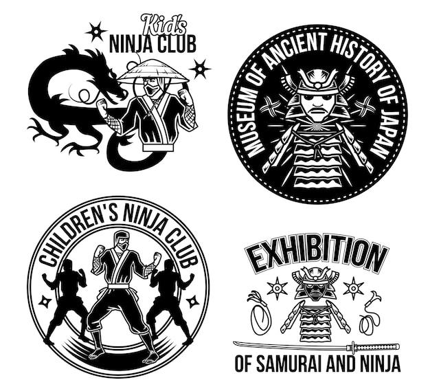 Ausstellung von samurai und ninja