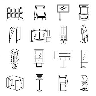 Ausstellungsstand-icon-set