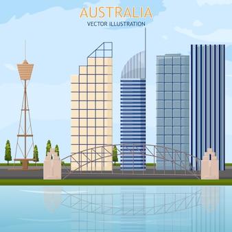 Australien-architektur-karte