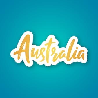 Australien-aufkleber auf blau