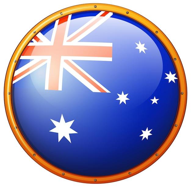 Australien-flagge auf rundem abzeichen