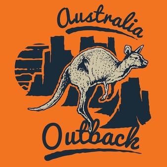 Australien-känguru-abzeichen