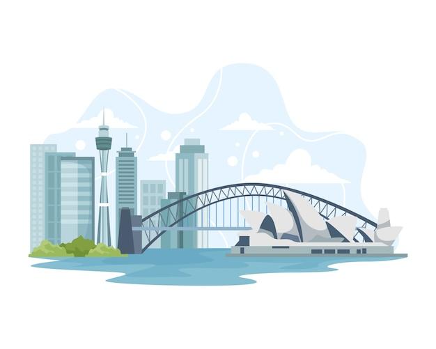 Australien stadtbild mit sehenswürdigkeiten