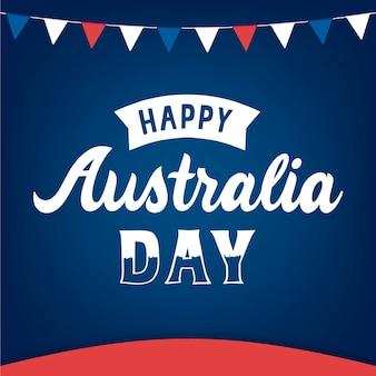 Australien tag feier schriftzug